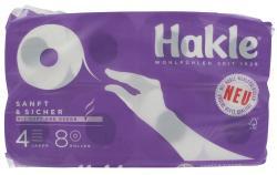 Hakle Sanft & Sicher Toilettenpapier 4-lagig  (8 x 130 Blatt) - 4006159101106