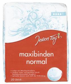 Jeden Tag Maxibinden normal  (20 St.) - 4306188052876