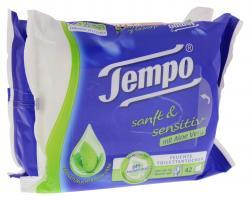Tempo Feuchte Toilettent�cher sanft & sensitiv mit Aloe Vera  (2 x 42 Blatt) - 7322540433074