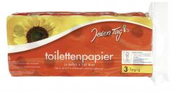 Jeden Tag Toilettenpapier gelb 3-lagig  (10 x 200 Blatt) - 4306188055754