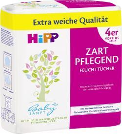 Hipp Babysanft zart pflegend Feuchttücher  (4 x 56 St.) - 4062300086937