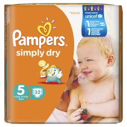 Pampers Simply Dry Gr. 5 Junior 11-25kg  (32 St.) - 4015400549802