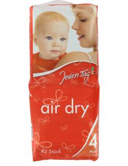 Jeden Tag Air Dry Windeln Gr. 4 Maxi 7-18 kg  (42 St.) - 4306180058340