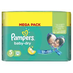 Pampers Baby Dry Gr. 5 Junior 11-25kg  (90 St.) - 4015400695769