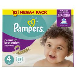 Pampers Premium Protection Active Fit Windeln Gr. 4 Maxi 8-16kg  (82 St.) - 4015400617778