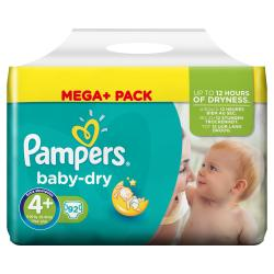 Pampers Baby Dry Gr. 4+ Maxi plus 9-20kg  (92 St.) - 4015400695592