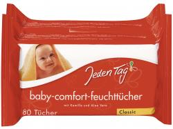 Jeden Tag Baby Comfort Feuchtt�cher classic  (2 x 80 St.) - 4306188280699