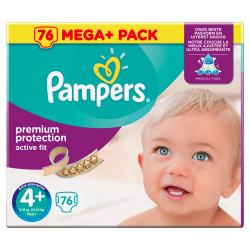 Pampers Premium Protection Active Fit Gr. 4+ Maxi 9-18kg  (76 St.) - 4015400617792