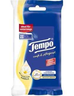 Tempo Feuchte Toilettent�cher sanft & pflegend mit Kamille  (10 St.) - 7322540444995
