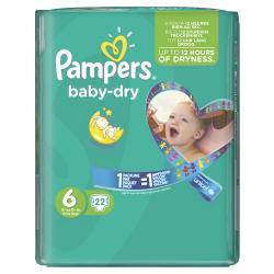 Pampers Baby Dry Gr. 6 extragroß 15+kg  (22 St.) - 4015400696278