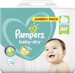 Pampers Baby Dry Gr. 4+ Maxi 9-20kg  (76 St.) - 4015400695677