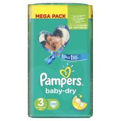 Pampers Baby Dry Gr. 3 Midi 4-9kg  (112 St.) - 4015400695530