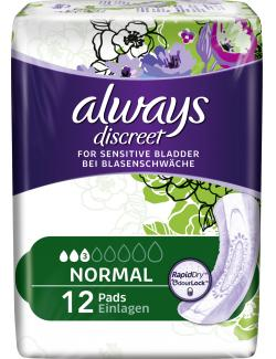 Always Discreet Binden für Blasenschwäche normal  (12 St.) - 4015400606499