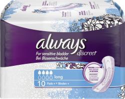 Always Discreet Binden für Blasenschwäche long  (10 St.) - 4015400683896