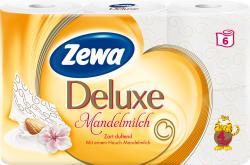Zewa Deluxe Toilettenpapier Mandelmilch 4-lagig  (6 x 135 Blatt) - 7322540739176