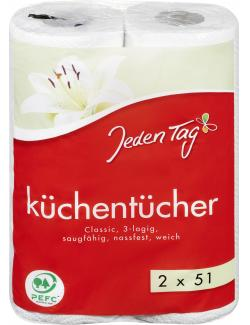Jeden Tag Küchentücher Classic 3-lagig  (2 x 51 Blatt) - 4306188351337