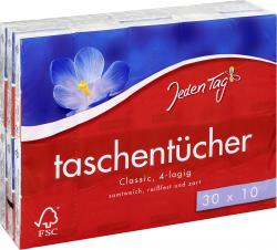 Jeden Tag Taschent�cher classic  (30 x 10 St.) - 4306188351450