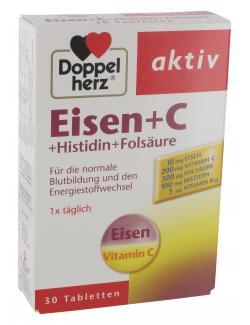 Doppelherz aktiv Eisen + C + Histidin + Folsäure Tabletten  (30 St.) - 4009932004809