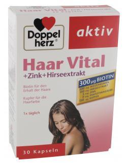Doppelherz aktiv Haar Vital + Zink + Hirseextrakt Kapseln  (30 St.) - 4009932007190