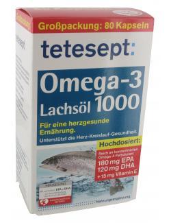 Tetesept Omega-3 Lachsöl 1000 Kapseln  (80 St.) - 4008491445221