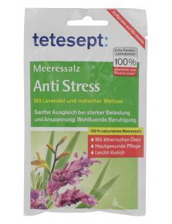 Tetesept Anti Stress Lavendel & indische Melisse Meersalz  (80 g) - 4008491480741