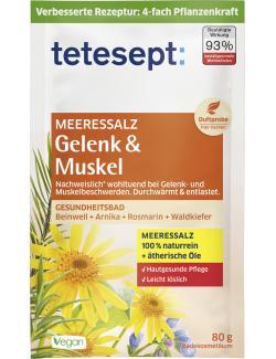 Tetesept Meeressalz Gelenk & Muskel mit Beinwell, Arnika & Rosmarin  (80 g) - 4008491480444