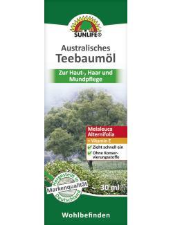 Sunlife Australisches Teebaum�l  (30 ml) - 4022679116123