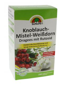 Sunlife Knoblauch-Mistel-Weißdorn Dragees  - 4022679116208