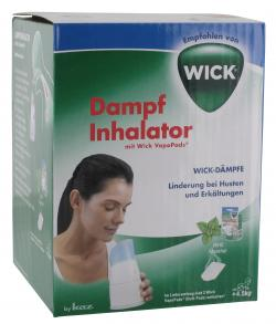 Wick Dampf Inhalator mit Wick VapoPads Menthol  (1 St.) - 4022167130150