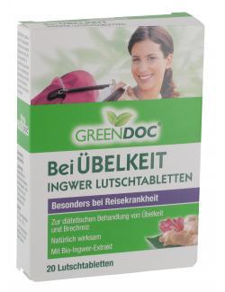 GreenDoc bei �belkeit Ingwer Lutschtabletten  (20 St.) - 4036581527809