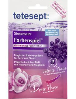 Tetesept  Farbenspiel Holunder & Magnolie Sinnensalze  (65 g) - 4008491204576