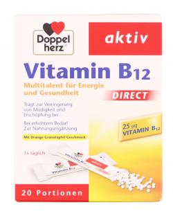 Doppelherz aktiv Vitamin B12 Direct Beutel  (20 St.) - 4009932008623