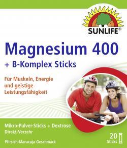 Sunlife Magnesium 400 + B-Komplex Sticks  (20 St.) - 4022679119889