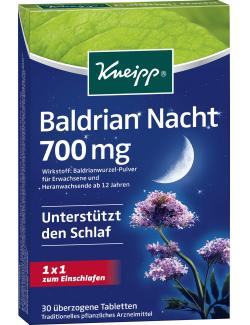 Kneipp Baldrian Nacht 700mg Tabletten  (30 St.) - 4008233125824