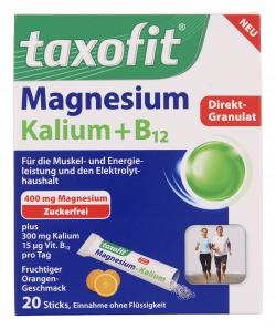 Taxofit Magnesium Kalium + B12 Direktgranulat  (20 St.) - 4008617038948