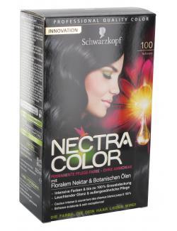 Schwarzkopf Nectra Color Pflege-Farbe 100 schwarz  (143 ml) - 4015000982399