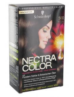 Schwarzkopf Nectra Color Pflege-Farbe 500 natürliches Braun  (143 ml) - 4015000982429