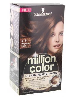 Schwarzkopf Million Color Intensiv-Pigment-Farbe 5-6 magisches Braun  (126 ml) - 4015000979405