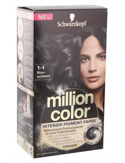 Schwarzkopf Million Color Intensiv-Pigment-Farbe 1-1 blauschwarz  (126 ml) - 4015000979429