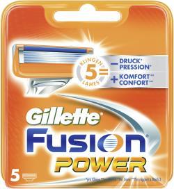 Gillette Fusion Power Klingen  (5 St.) - 7702018383450