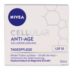 Nivea Cellular Anti Age Tagespflege LSF 15 Hyalurons�ure & Magnolia-Extrakt  (50 ml) - 4005900131560