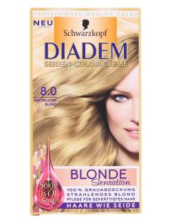 Schwarzkopf Diadem Seiden-Color-Creme 8.0 natürliches Blond  (142 ml) - 4015001010558