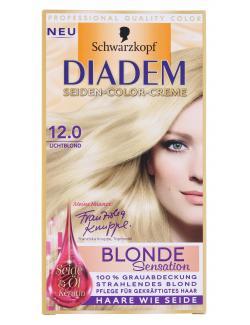 Schwarzkopf Diadem Seiden-Color-Creme 12.0 lichtblond  (142 ml) - 4015001010565