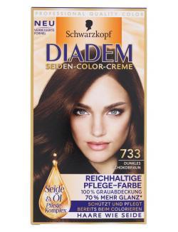 Schwarzkopf Diadem Seiden-Color-Creme 733 dunkles Schokobraun  (142 ml) - 4015001010251
