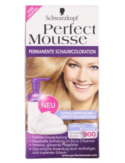 Schwarzkopf Perfect Mousse Schaumcoloration 900 sonniges Blond  (93 ml) - 4015001005523