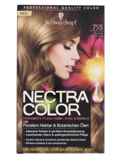 Schwarzkopf Nectra Color Pflege-Farbe 755 dunkles Goldblond  (143 ml) - 4015001002324