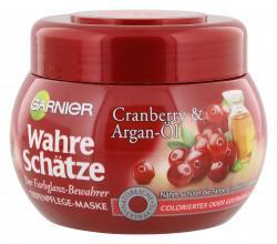 Garnier Wahre Schätze Farbglanz Tiefenpflege Maske Cranberry und Argan-Öl  (300 ml) - 3600541875340