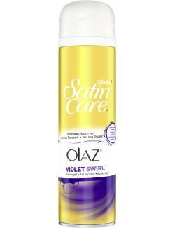 Gillette Satin Care Olaz Violet Swirl Rasiergel  (200 ml) - 7702018400140
