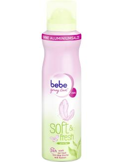 Bebe Young Care Soft & fresh Deo Spray gr�ner Tee  (150 ml) - 3574661261300
