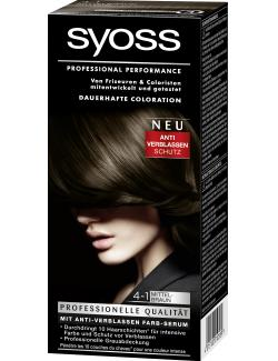 Syoss Professional Performance Coloration 4-1 mittelbraun  (115 ml) - 4015100010589